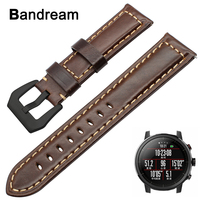Vintage Genuine Leather Watchband 22mm For Xiaomi Huami Amazfit 2 2S Quick Release Watch Band 316L
