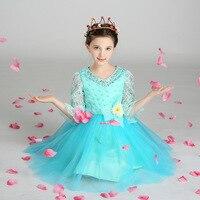 T372 оптовая продажа, 6 шт./партия, детское платье для девочек в европейском и американском стиле кружевное платье принцессы из органзы с вышив