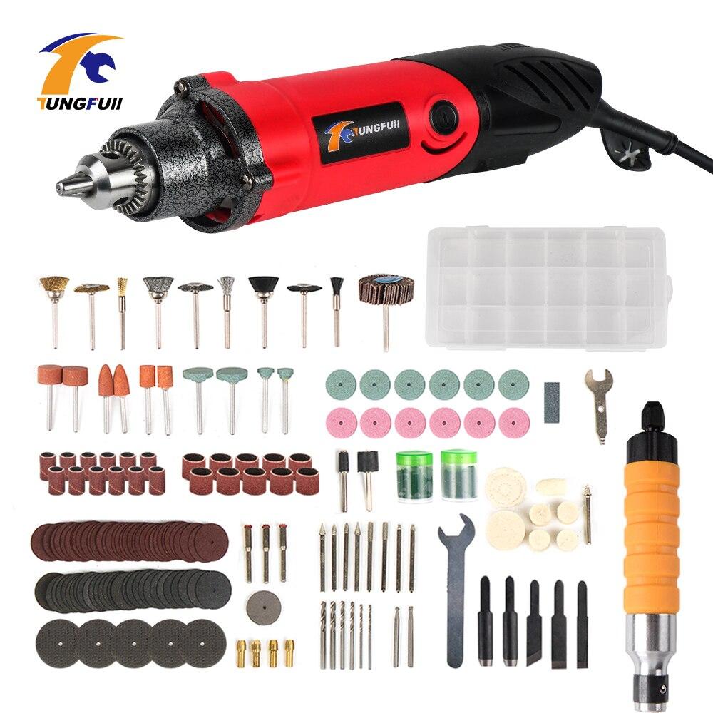 Tungfull gravador 240 w 220 v ferramenta elétrica gravador dremel ferramentas acessórios mini elétrica broca de corte polimento moagem