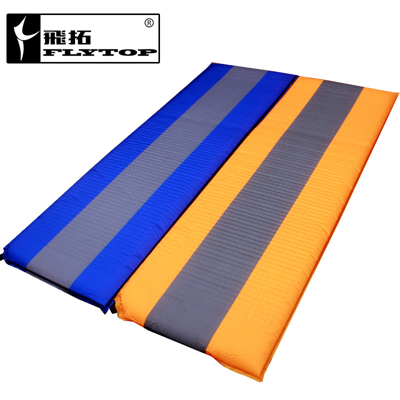 FlyTop PVC 188*60*2.5cm single person automatic inflatable mattress outdoor camping fishing beach mat <font><b>on</b></font> sale have two color