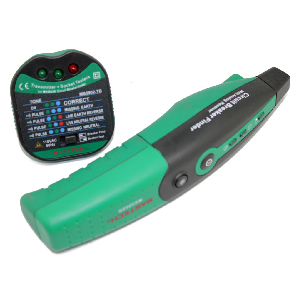 MASTECH <font><b>MS5902</b></font> Circuit Breaker LED Tester Finder CATII 600V Zeroline audible iin image
