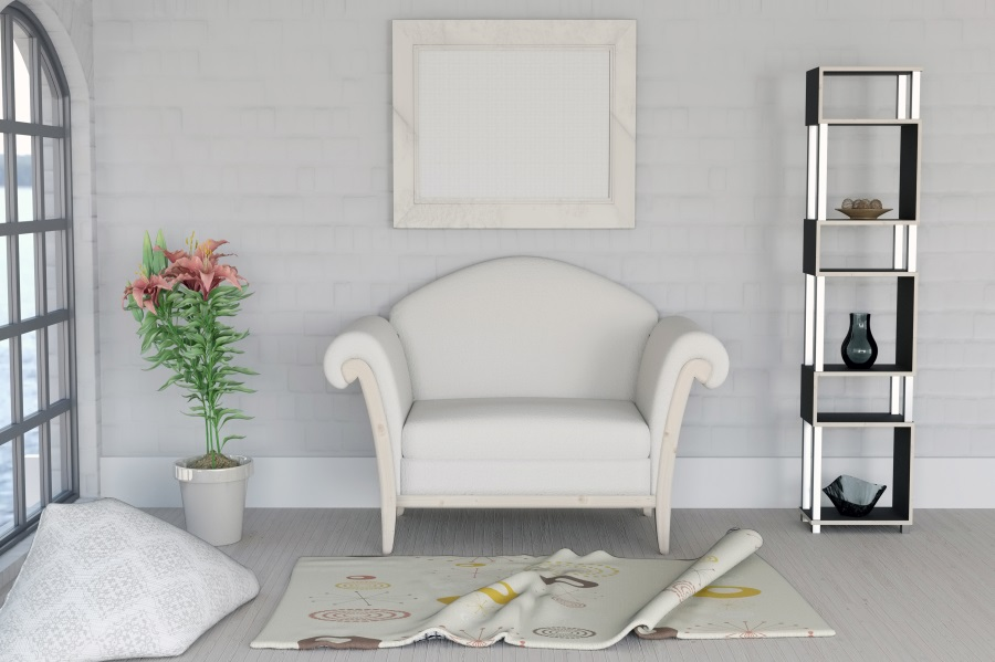 sofa background window portrait arch interior backdrop studio flowers photographic laeacco customized
