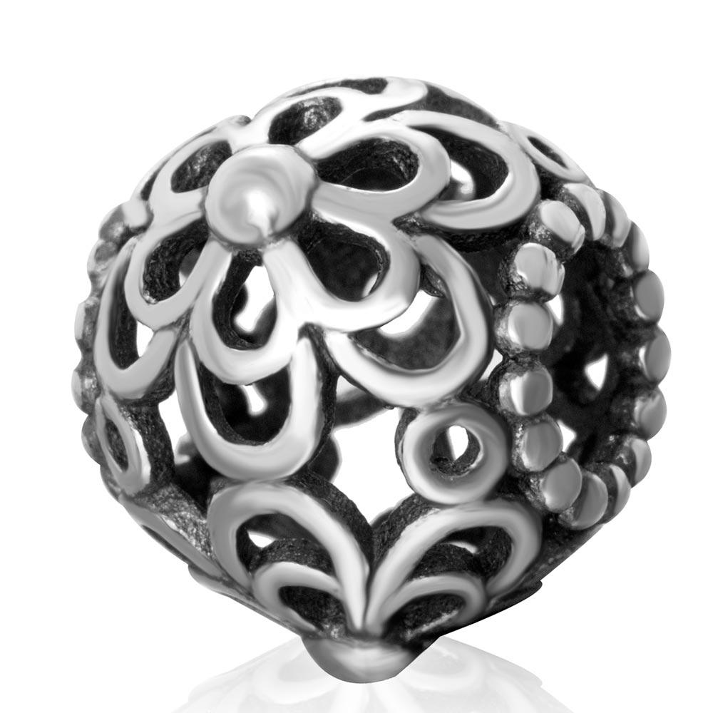 2018 flor serie auténtico 925 plata esterlina margaritas Amuletos Cuentas  encajar serpiente pulsera hacer envío gratis eb5d2d21590