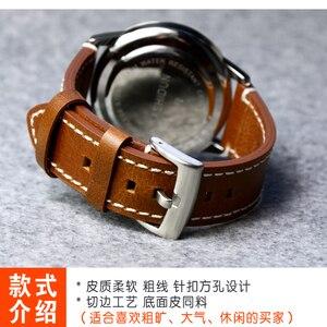 Image 4 - ของแท้หนังสายนาฬิกานาฬิกาสำหรับ Longines/Mido/Tissot/Seiko 18 มม.19 มม.20 มม.21mm 22mm 23mm สีเหลืองสีน้ำตาลสีดำนาฬิกา