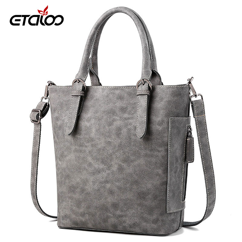 2018 new handbags Microfiber bucket bag European and American fashion simple lady bag shoulder Messenger bag 2017 autumn european and american fashion women s handbags high end atmosphere banquet tote bag dhl speedy shipping