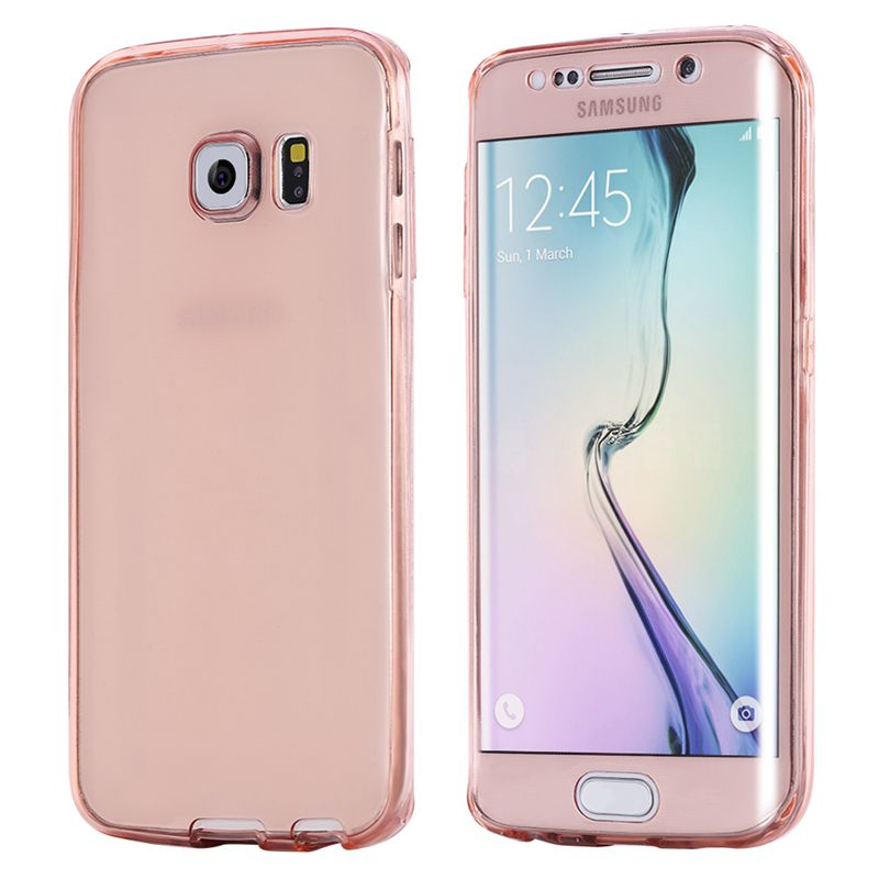 sports shoes 6c020 74868 S6&S6edge 360 Degree Full Protect Soft TPU Cover for Samsung Galaxy S6 edge  galaxie Case Silicone Gel Shell Capa Coque Funda