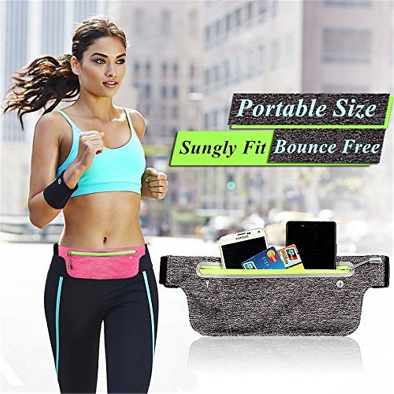 Home Aggressive Men Women Fitness Waist Bag Adjustable Belt Phone Key Pouch For Running Workout 2019ing Crease-Resistance