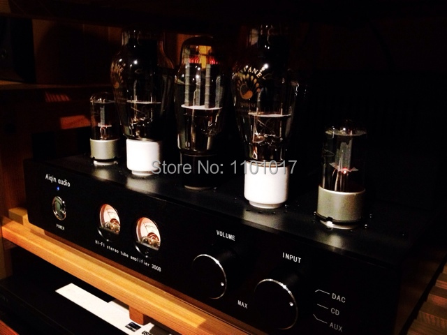 Laochen 300B Tube Amplifier HIFI EXQUIS Single-ended Class A Handmade OldChen Amp Black Version oldbuffalo 300b signal ended tube amplifier hifi exquis black aluminum chassis 4 way lamp amp