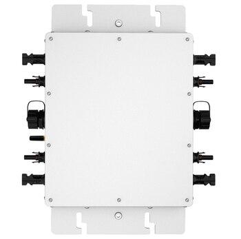 Micro Inverter MPPT Zuivere Sinus Omvormer 1200 W 22-50 V DC Input Draadloze Communicatie Functie met 2 Meters AC Kabel