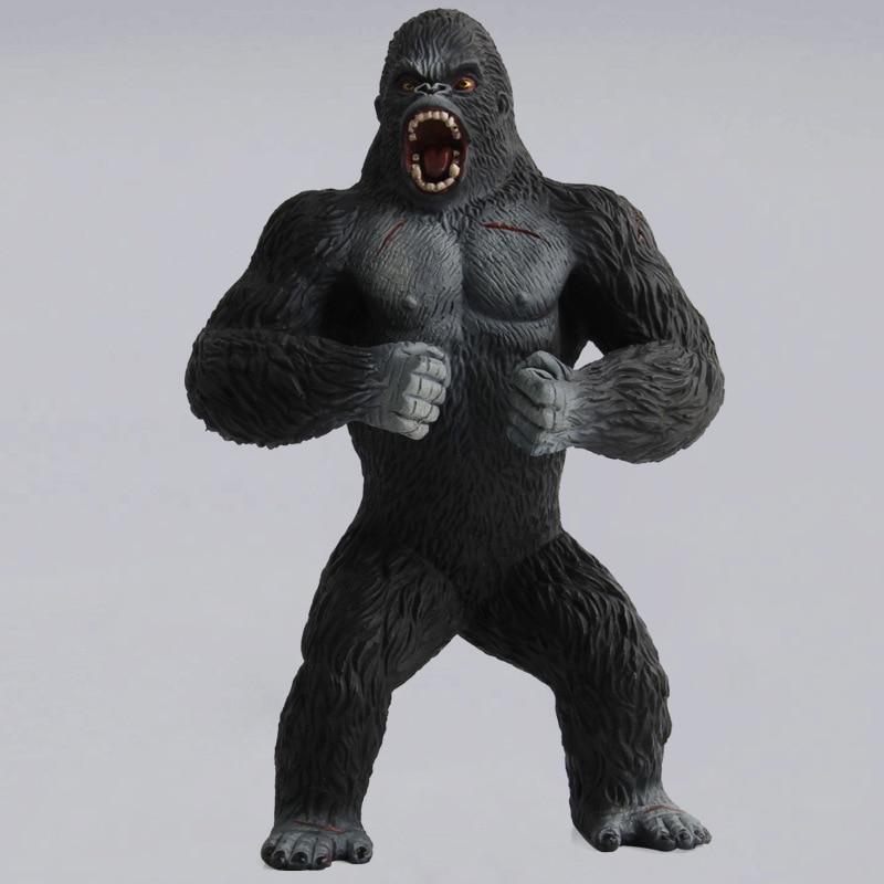 Action Figures Animal Chimpanzee King Kong Skull Island Gorilla PVC Action Figure Model Toys Doll For Collectible 19cm black orangutan 75x85cm chimpanzee plush toy black king kong doll gift w4663