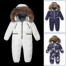 Girls Jumpsuit Clothing Coat Down-Jacket Duck Boys Kids Winter for 4--10y Climbing High-Quality