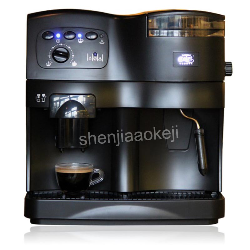 Automatic Household Coffee Machine with grinder Commercial pump pressure multi function coffee machine ABS plastic 220V