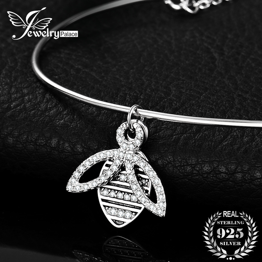 JewelryPalace Honey Bee Cubic Zirconia Adjustable Link Bracelets 925 Sterling Silver Women Fashion Party Bracelets Brand JewelryJewelryPalace Honey Bee Cubic Zirconia Adjustable Link Bracelets 925 Sterling Silver Women Fashion Party Bracelets Brand Jewelry