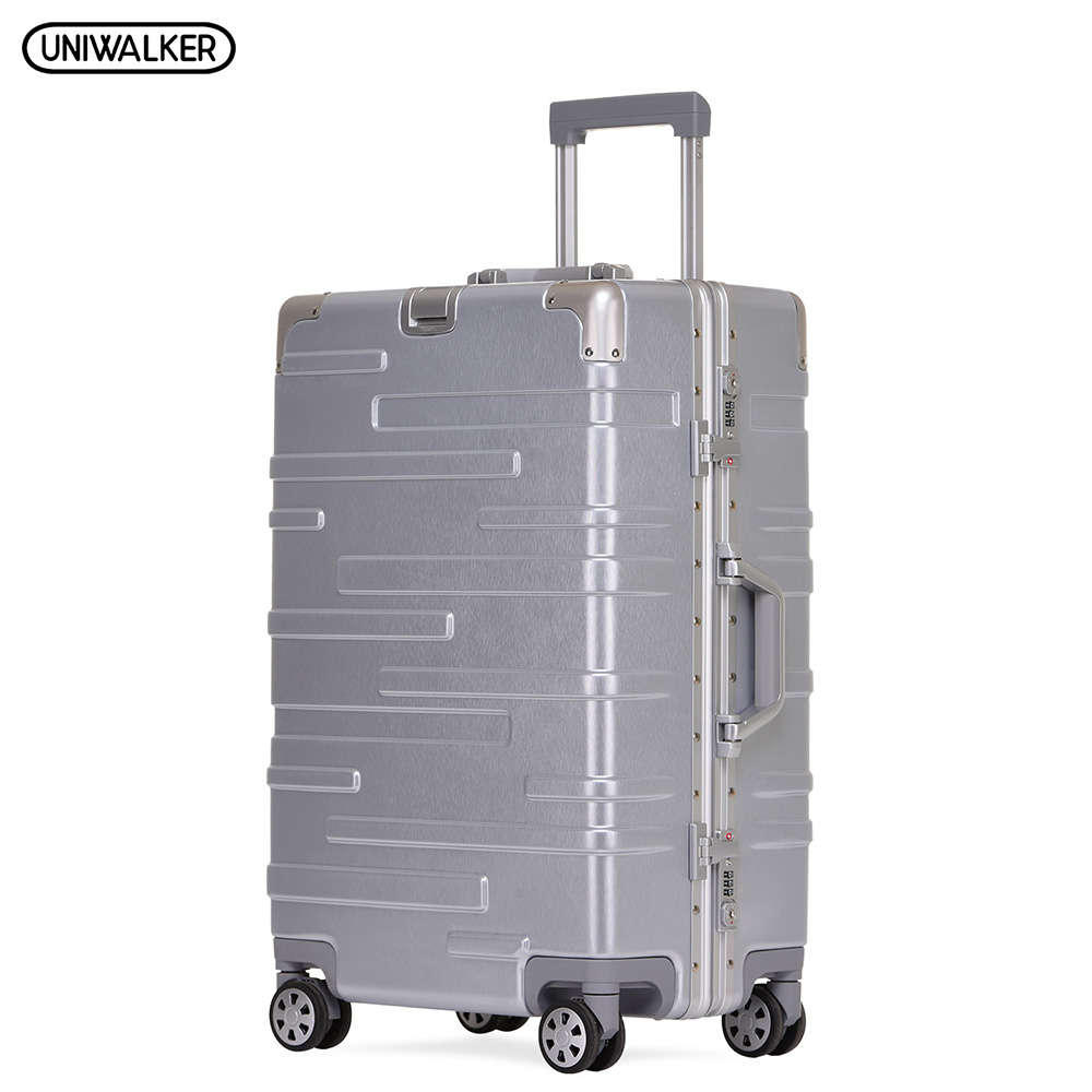 UNIWALKER 20''24''26''29'' Hardside Luggage with Spinner Lightweight Rolling Suitcase TSA Lock Carry On Adjustable Rod vintage suitcase 20 26 pu leather travel suitcase scratch resistant rolling luggage bags suitcase with tsa lock