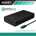 AUKEY de Carga Rápida 3.0 30000 mAh Power Bank Saída Dual USB carregador portátil de bateria externa para xiaomi mi3 mi4 galaxy s6 borda
