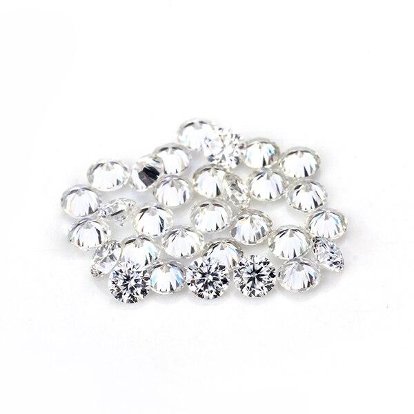 Wysoka jakość jasne białe śladu środowiskowego kolor okrągły 10 sztuk 2.7mm stworzony w laboratorium Moissanites luźny kamień koralik dla pierścień wyrobu w Diamenty i kamienie jubilerskie luzem od Biżuteria i akcesoria na  Grupa 1