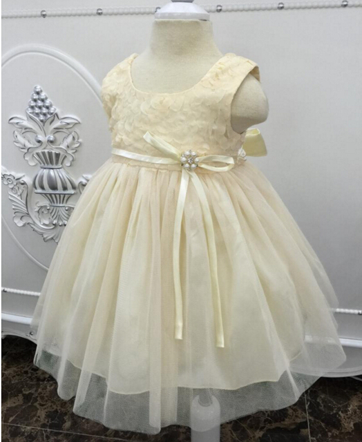 2016 Lolita Infant Christening Dress White/Ivory Baptism Gown Lace Tulle With Belt/Sash 4-18month