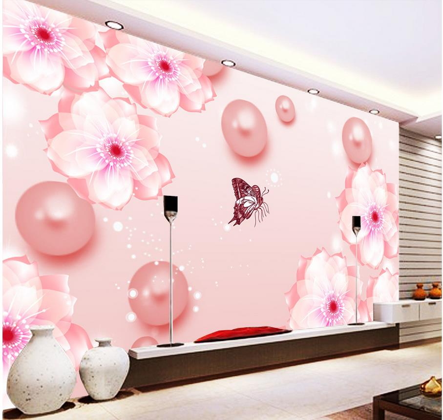 3d Name Wallpapers Home Decoration Pearl Butterfly Flower