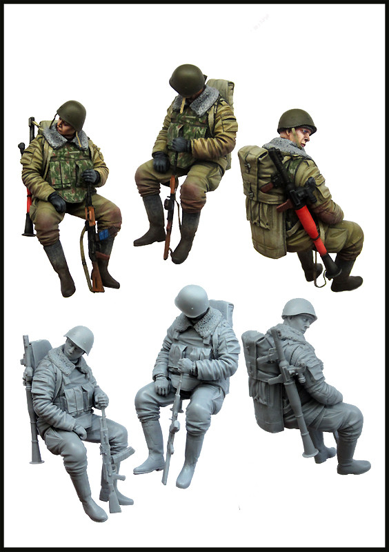 pre order-Resin toys  Russian soldiers (Chechnya)  Free shipping resin kits 1 9 scale 1 9 200mm the orogs warlord soldiers resin model diy toys