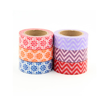 6X Wide Fresh Style Stripes and Floral Washi Tape Adhesive Tape DIY Scrapbooking Sticker Label Masking