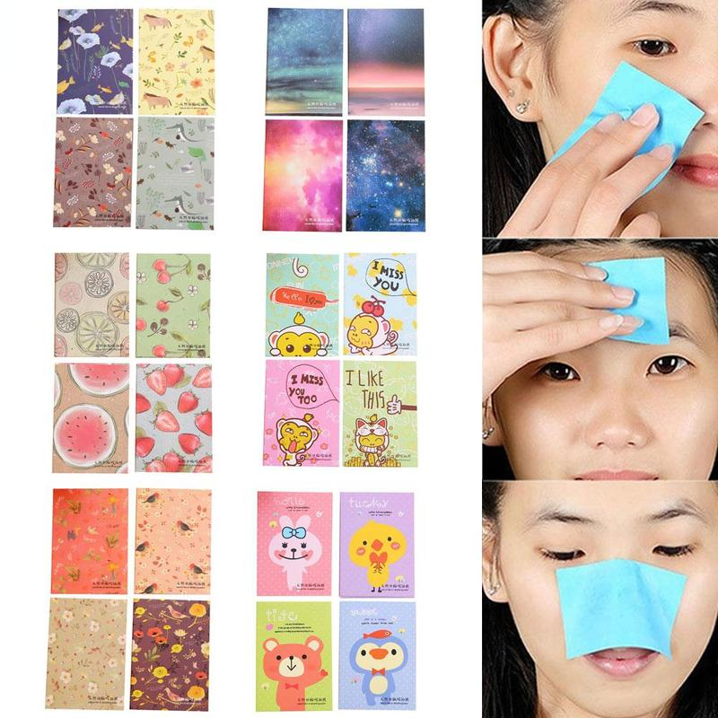 50pcs/Pack Facial Absorbent Paper Oil Control Wipes Summer Face Oil Absorbing Paper Matcha Oily Face Blotting Matting Tissue