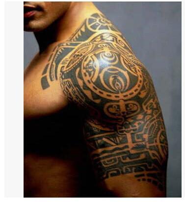 1lot=1pcs arm +1pcs chest waterproof tattoo stickers cx- 21 prothorax twinset big 3d tatoo stickers men 2