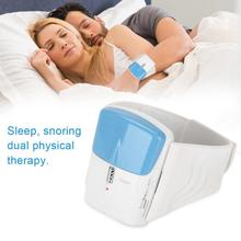 Snoring Stopper Sleep Device Pressure Sleeping Aid Hypnotic Sevice Instrument Save Insomnia Infrared Anti Snore Wristband D30 electronic wristband style pulse snore stopper blue white 1 x cr2032