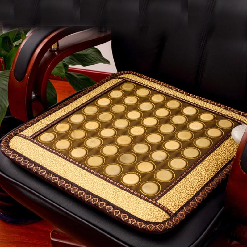 2017 New Product! Korea Heating Jade Mat Tourmaline Massager Thermal Jade Mattress Size 45cmX45cm tourmaline germanite jade products korea thermal jade mattress bed jade mat infrared heating mat ac220v size 1 2x1 9m