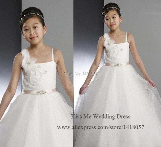 Cute White Flower Girl Dresses for Weddings 2015 Children Prom Dress for  Girls Tulle Vestidos Infantils 6222dac4b