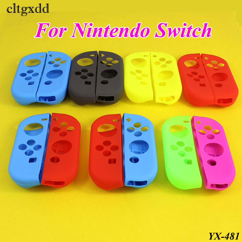 Cltgxdd Silicone Gel Gamepad Joypad Protective Skin Cover Case For Nintendo Switch Controller Protection Shell For NS