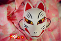 Full Face Hand-Painted Japanese Fox Mask Kitsune Cosplay PVC Masque Collection for Party Carnival Halloween