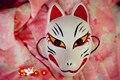 Rosto cheio Mão-Pintado Japonês Máscara Fox Kitsune Cosplay PVC Coleção para a Festa do Dia Das Bruxas Carnaval Masque