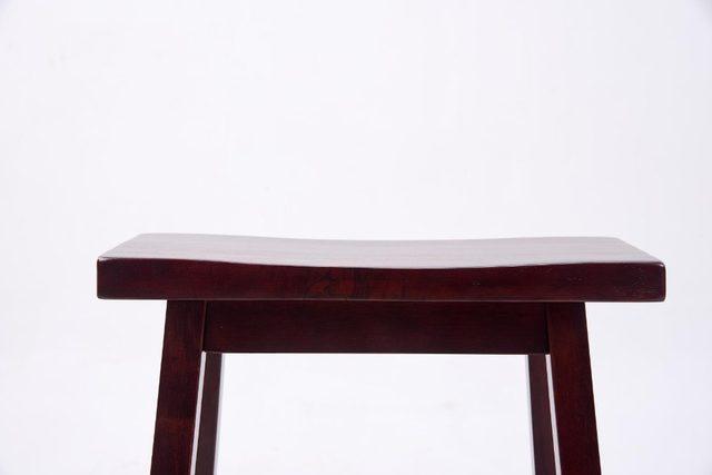 Online shop solido legno duro bar sedia sgabello sedile a sella