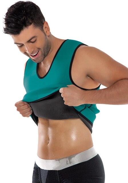 832b90267a2 Plus Size Men Waist Training Corsets Ultra Sweat Gym Thermal Shaper Vest Neoprene  Fitness Sport Bodysuit