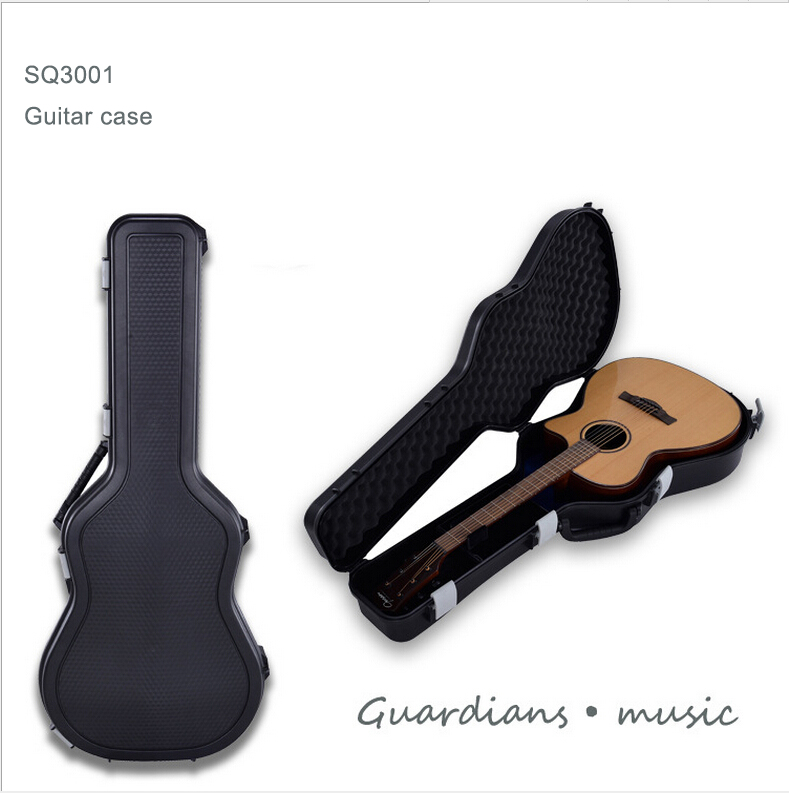 SQ3001 internal1056*430*163mm waterproof hard plastic guitar case with four latches
