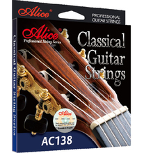 Alice AC138H Classical Guitar Strings E-1,B-2, G-3 crystal nylon. D-4, A-5, E-6 silver-plated 85/15 bronze wound string