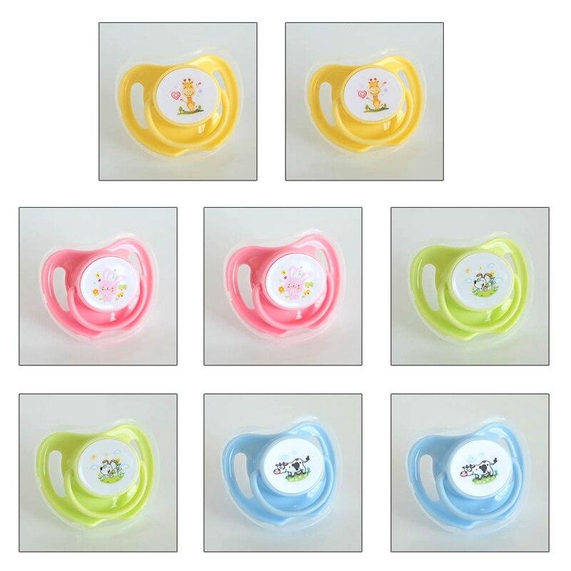 1 Pc Baby Baumwolle Tiere Druck Schnuller Safe Food Grade Silikon Nette Baby Runde Und Flache Nippel Schnuller Die Neueste Mode