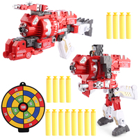 NFSTRIKE KaiLi Alloy Soft Air Blaster Educational Toy Fire Phoenix Deformation Robot Type Funny Toys for Kids Children 2018