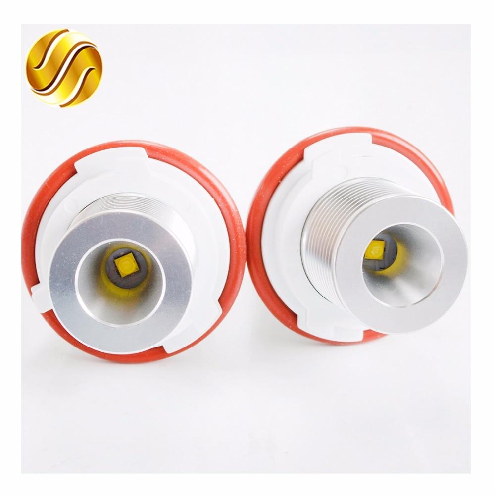 flytop 1 Set 2*6W 12W LED Marker Angel Eyes for CREE LED Chips White / Blue / Yellow / Red for E39 E53 E60 E61 E63 E64 E65 E66