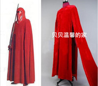 Star Wars:Revenge of Sith Cosplay Costume Emperor Royal Guard Red Robe Cloak Outfit