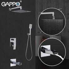 GAPPO シャワー蛇口浴室のシャワーセット蛇口シャワーヘッドシャワーパネル浴室の滝の蛇口のミキサーセット G7107 20