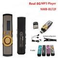 Vendas por atacado!! New real 8 GB MP3 Player Popular 172 tela digital USB MP3 music Player Com Clip 5 Cores Flash Drive