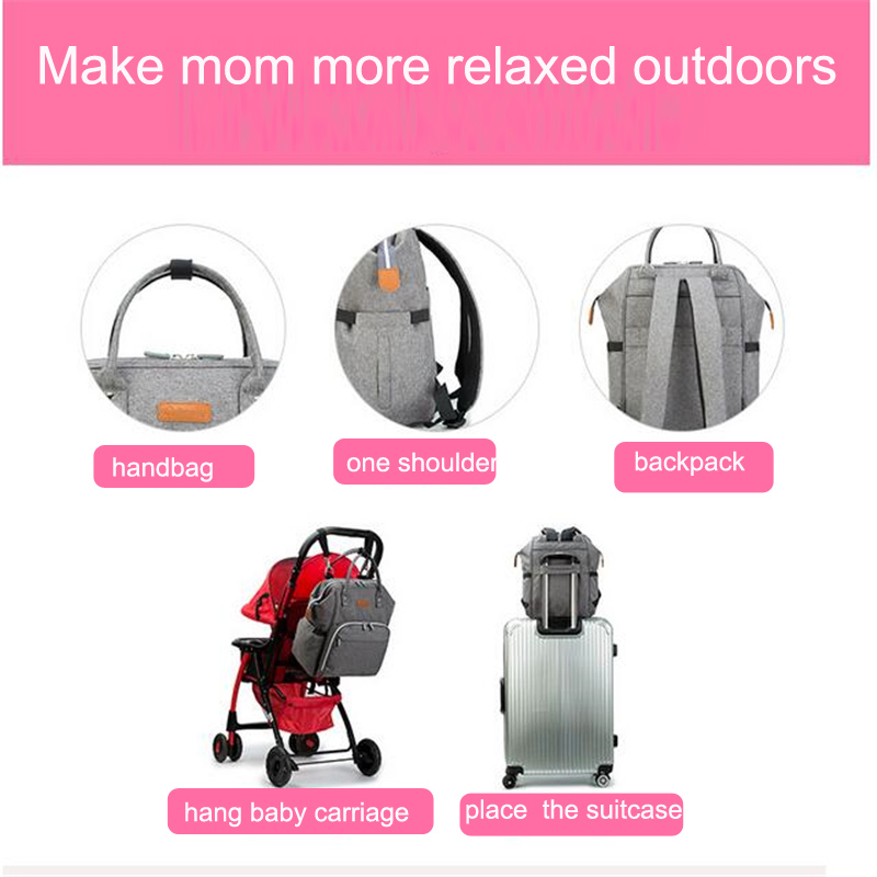 HTB1CeWmbcfrK1Rjy1Xdq6yemFXat 23 Colors Fashion Mummy Maternity Nappy Bag Large Capacity Baby Diaper Bag Travel Backpack Designer Nursing Bag for Baby Care