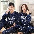 Пижамы Для Женщин Осенние И Зимние Любителей Мужчины Пижамы Фланелевые Утолщение Теплый Пижамы Пара Пижамы Устанавливает 3XL