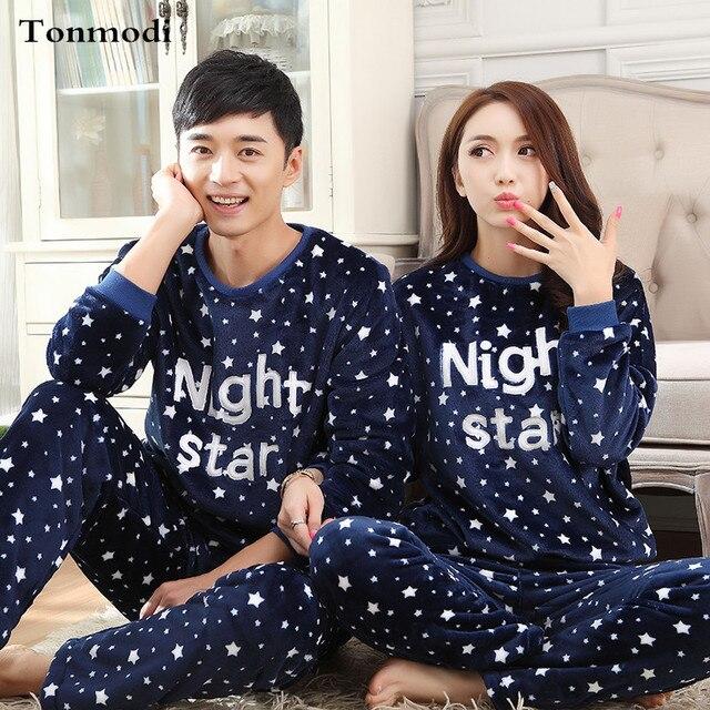 Pijamas Para As Mulheres Amantes de Outono E Inverno Homens Sleepwear Espessamento Flanela Pijamas Quentes Casal Conjuntos de Pijama 3XL