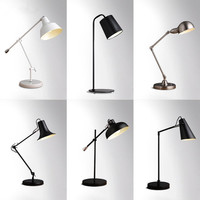 Настольная лампа LED блеск Современная настольная лампа настольная исследование светлая спальня ночные огни акриловые абажур Главная дизай