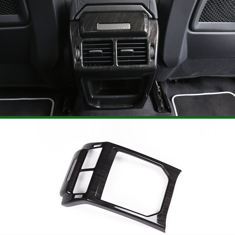 For Land Rover Range Rover Evoque Car Interior Accessories Rear Air Conditioning Vent Cover Frame Trim Stickers 2014-2017 2pcs abs car interior accessories center control side strip cover trim for land rover lr4 discovery 4 2013 2016 car styling