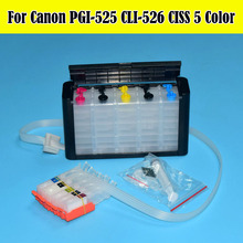 Factory Supply! Hot sell 525 526 ciss for Canon pixma PGI-525/CLI-526 for canon IP4850 MX885/IX6550 printer with arc chip все цены