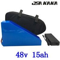 48 V 15AH 1000 W электрическая велосипедная батарея 48 v 15ah литий-ионная батарея 48 V 15AH ebike батарея с 30A BMS + 54,6 V 2A зарядное устройство + бесплатная сумк...