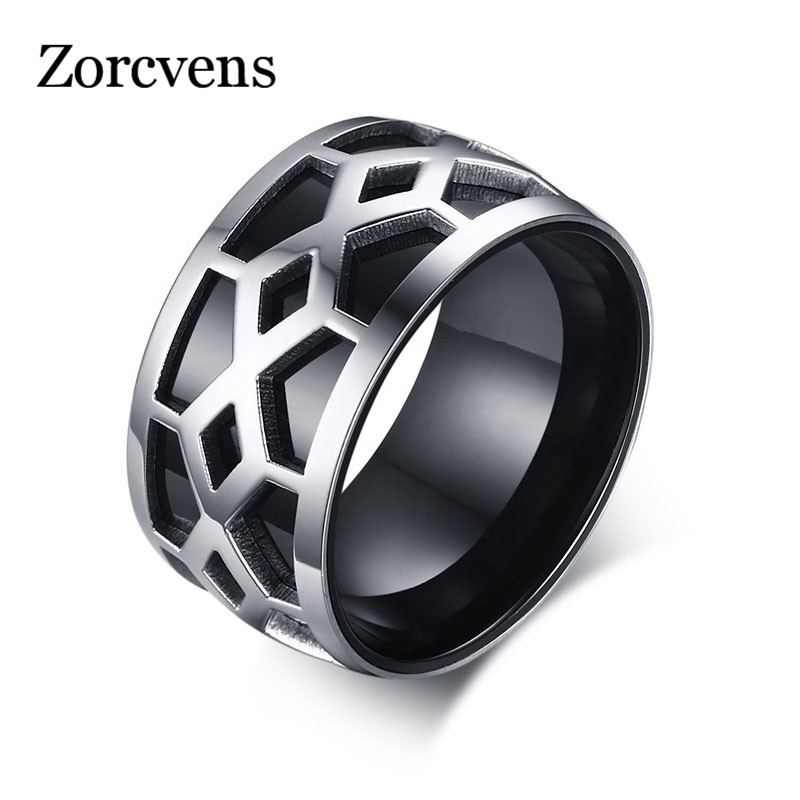 ZORCVENS New Fashion Black Men Wedding Rings 12mm Wide Stainless Steel  Infinity Style Rings For Men In Rings From Jewelry U0026 Accessories On  Aliexpress.com ...